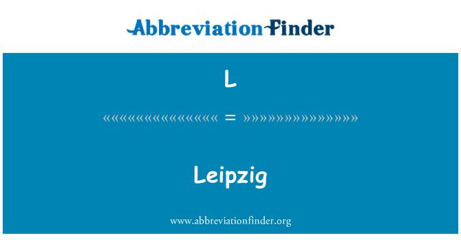 L: Leipzig