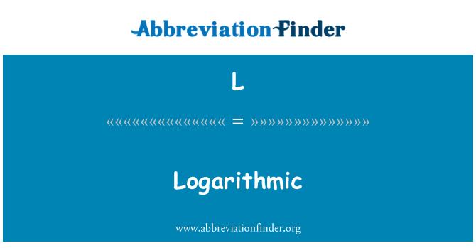 L: Logaritmiline