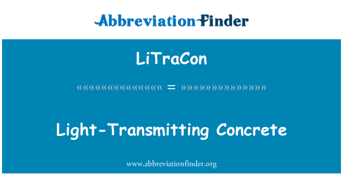 LiTraCon: Light-Transmitting Concrete