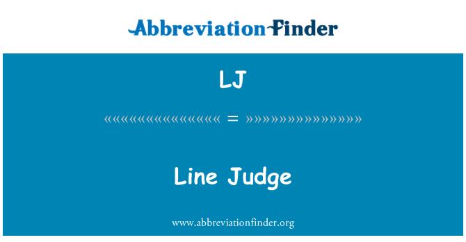 LJ: Line Judge