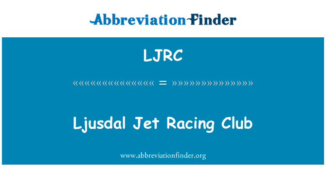 LJRC: Ljusdal Jet Racing Club