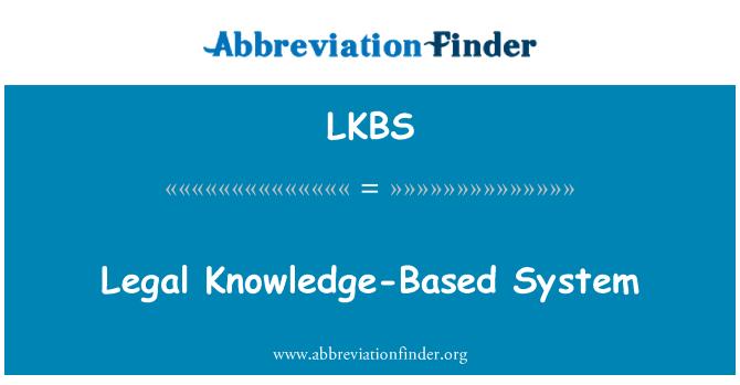 LKBS: Legal Knowledge-Based System