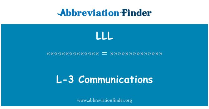 LLL: L-3 Communications