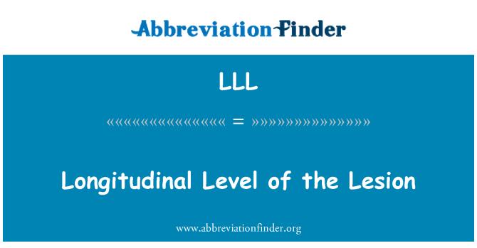 LLL: Longitudinal Level of the Lesion