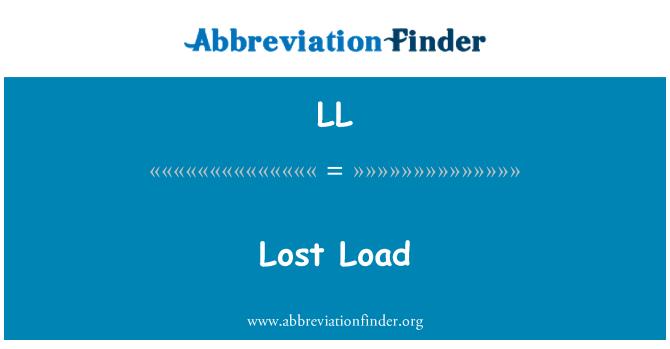 LL: Lost Load