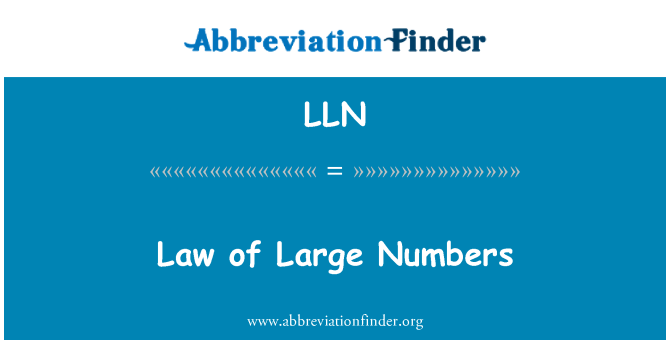LLN: Law of Large Numbers