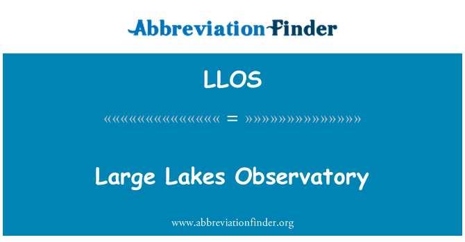 LLOS: Grandes lagos Observatorio