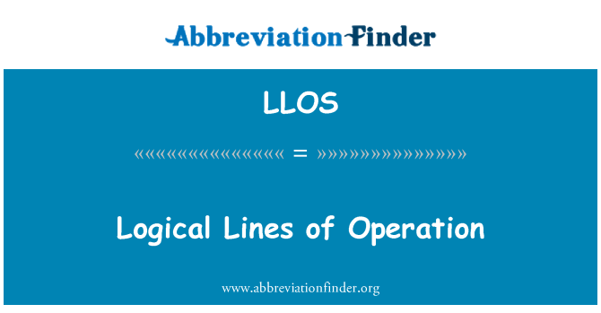 LLOS: Líneas lógicas de operación