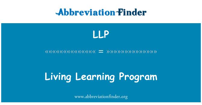 LLP: Living Learning Program
