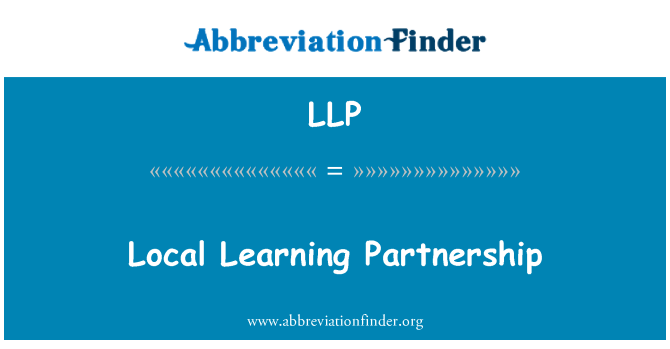LLP: Local Learning Partnership