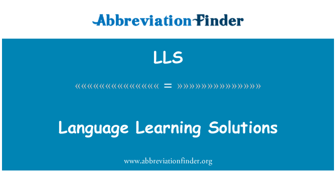 LLS: Language Learning Solutions
