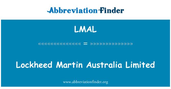 LMAL: Lockheed Martin Australia Limited