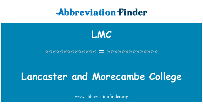 LMC: Lancaster and Morecambe College