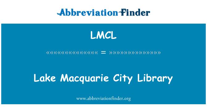 LMCL: Lake Macquarie City Library