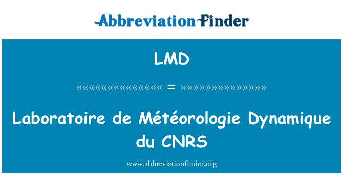LMD: Laboratoire de Météorologie Dynamique du CNRS