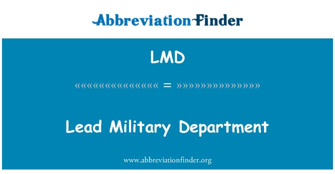 LMD: Lead Military Department