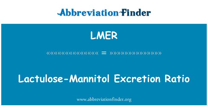 LMER: Lactulosa-Mannitol excreción Ratio