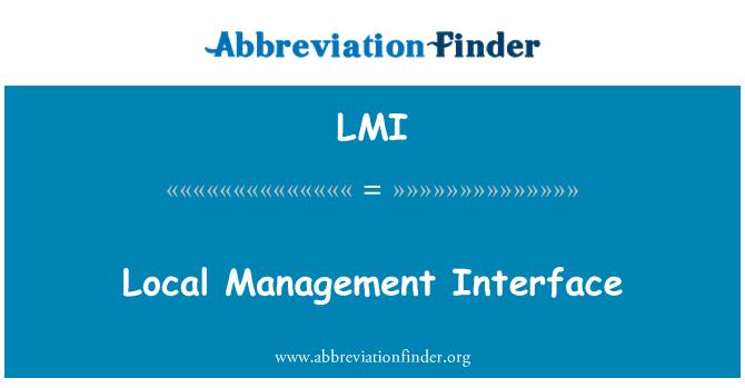 LMI: Local Management Interface