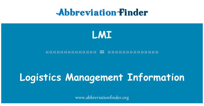 LMI: Logistics Management Information