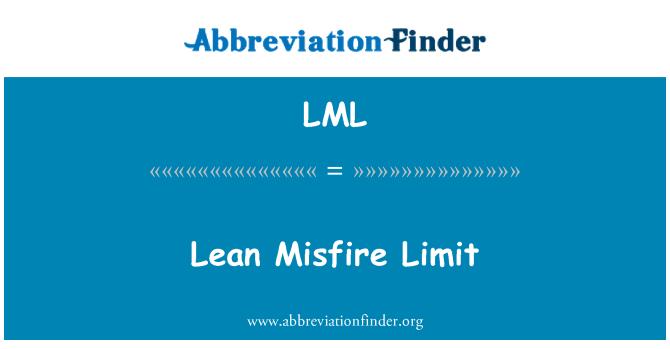 LML: Lean Misfire Limit