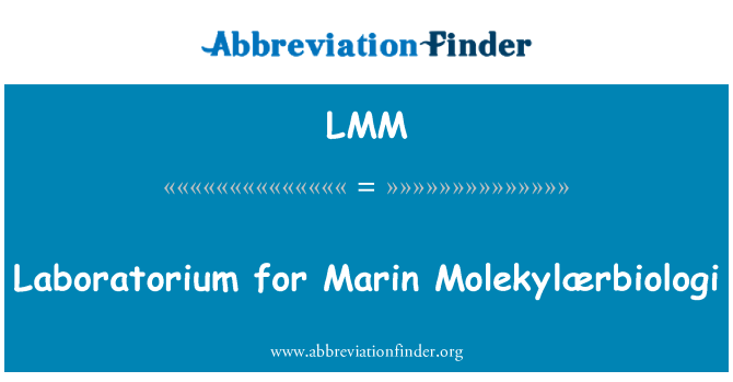 LMM: Laboratorium for Marin Molekylærbiologi