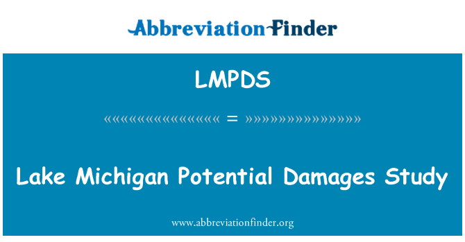 LMPDS: Lake Michigan Potential Damages Study