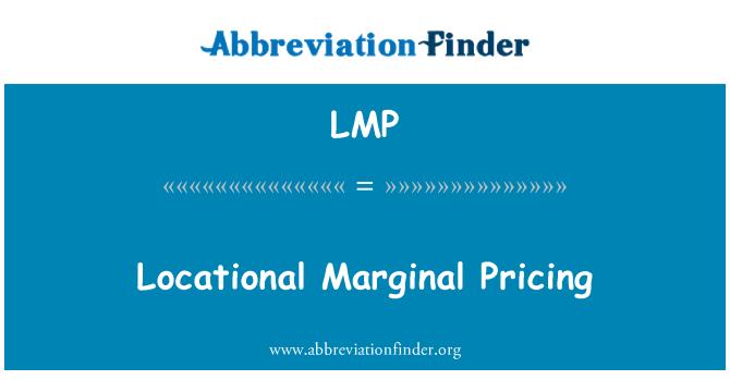 LMP: Locational Marginal Pricing