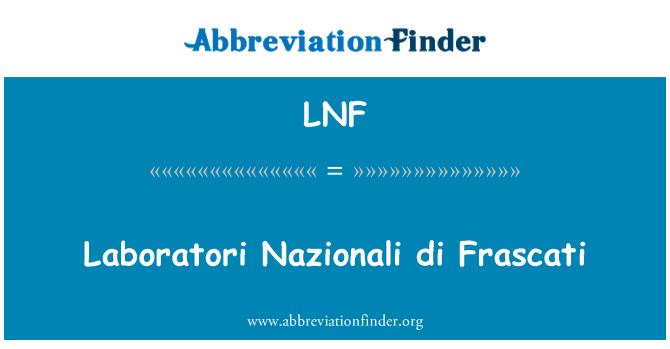 LNF: Laboratori Nazionali di Frascati