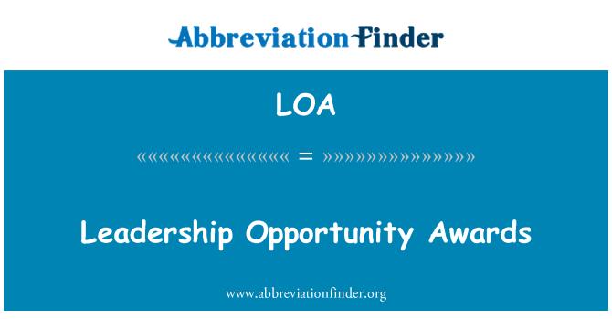 LOA: Leadership Opportunity Awards
