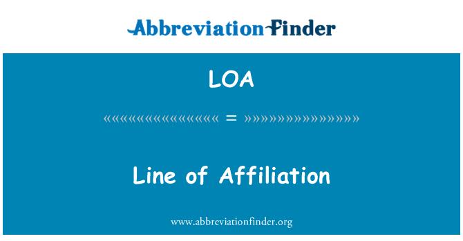 LOA: Line of Affiliation
