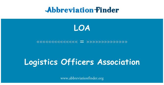 LOA: Logistics Officers Association