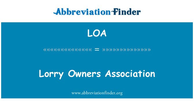 LOA: Lorry Owners Association