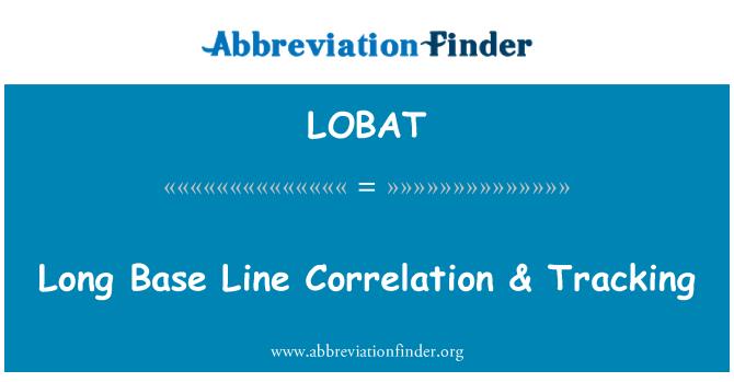 LOBAT: Long Base Line Correlation & Tracking