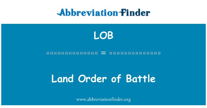 LOB: Land Order of Battle