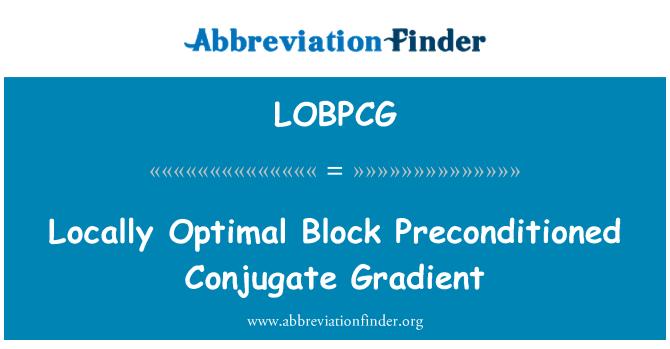 LOBPCG: Locally Optimal Block Preconditioned Conjugate Gradient