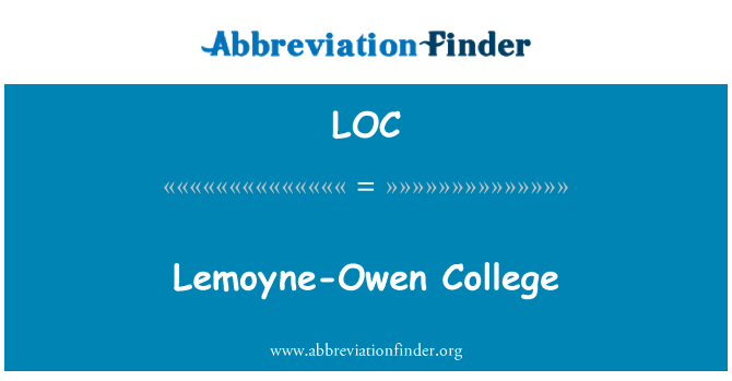 LOC: Lemoyne-Owen College