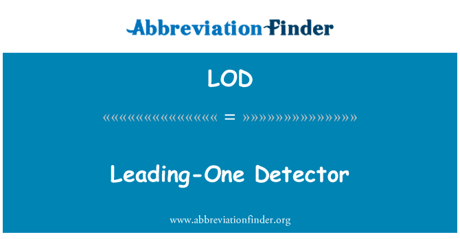 LOD: Leading-One Detector