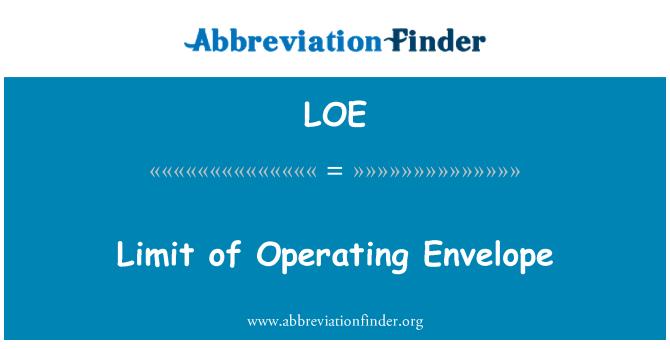 LOE: Limit of Operating Envelope