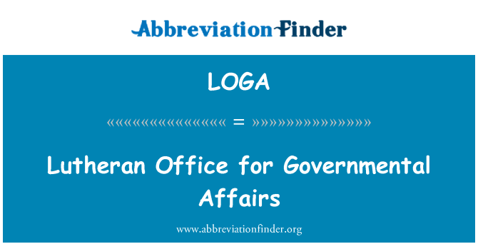 LOGA: Lutheran Office for Governmental Affairs