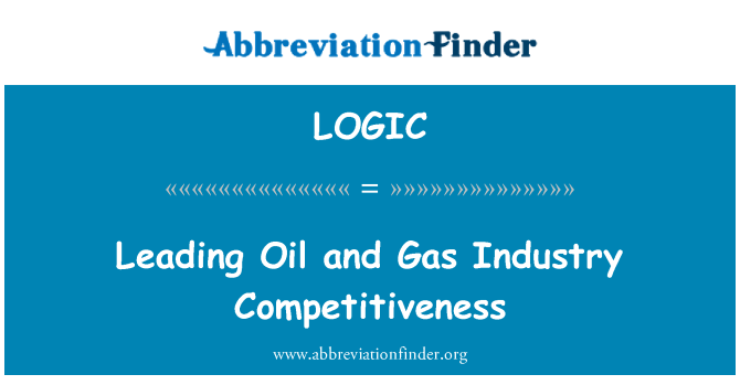 LOGIC: Leading Oil and Gas Industry Competitiveness