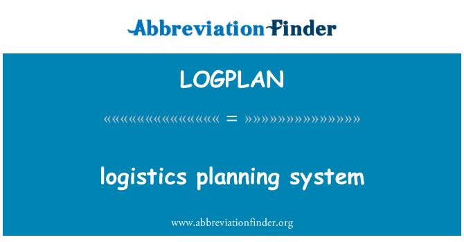 LOGPLAN: sistema de planificación logística