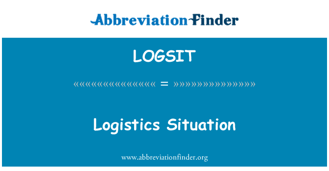 LOGSIT: Logistics Situation