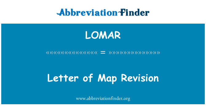 LOMAR: Letter of Map Revision