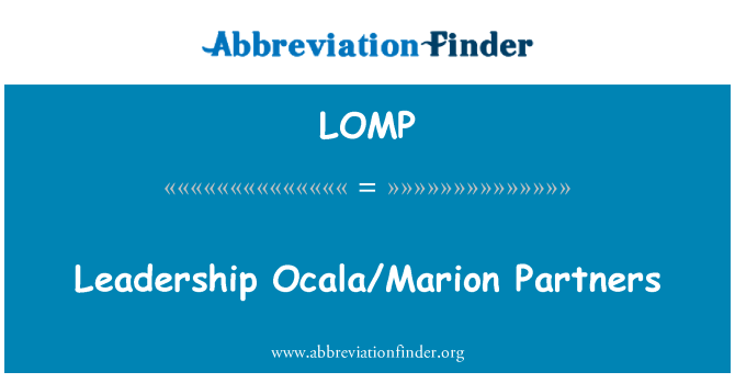 LOMP: 领导奥卡拉/马里恩伙伴