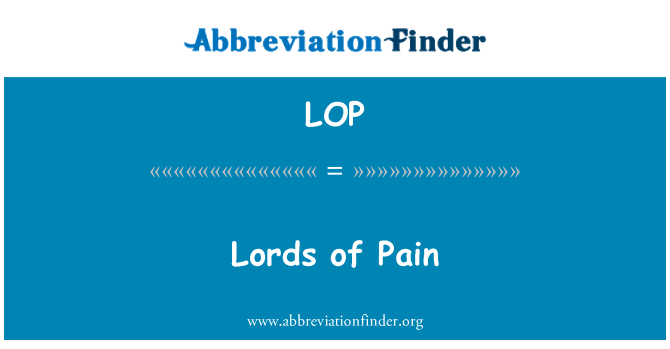 LOP: Lords of Pain