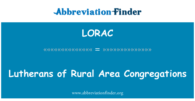 LORAC: Lutherans of Rural Area Congregations