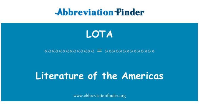 LOTA: Literature of the Americas