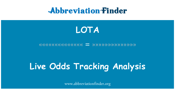 LOTA: Live Odds Tracking Analysis