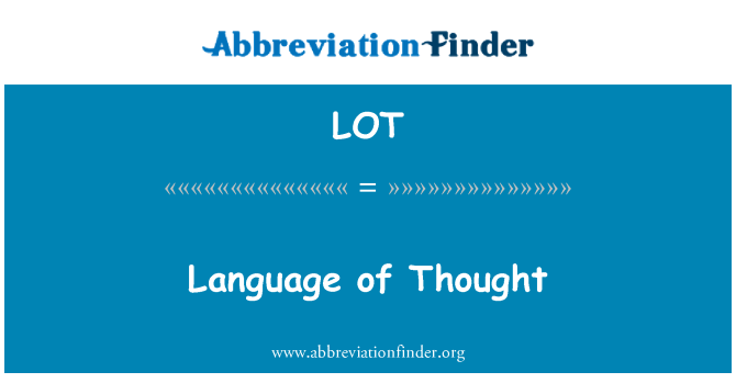 LOT: Language of Thought