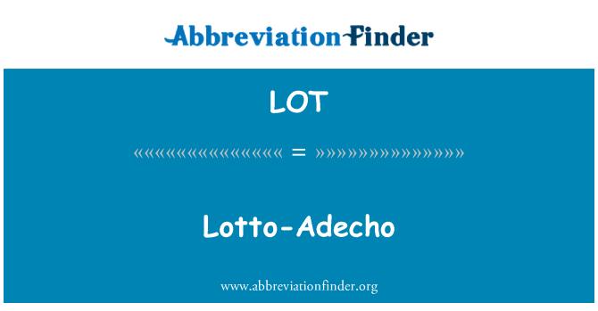 LOT: Lotto-Adecho